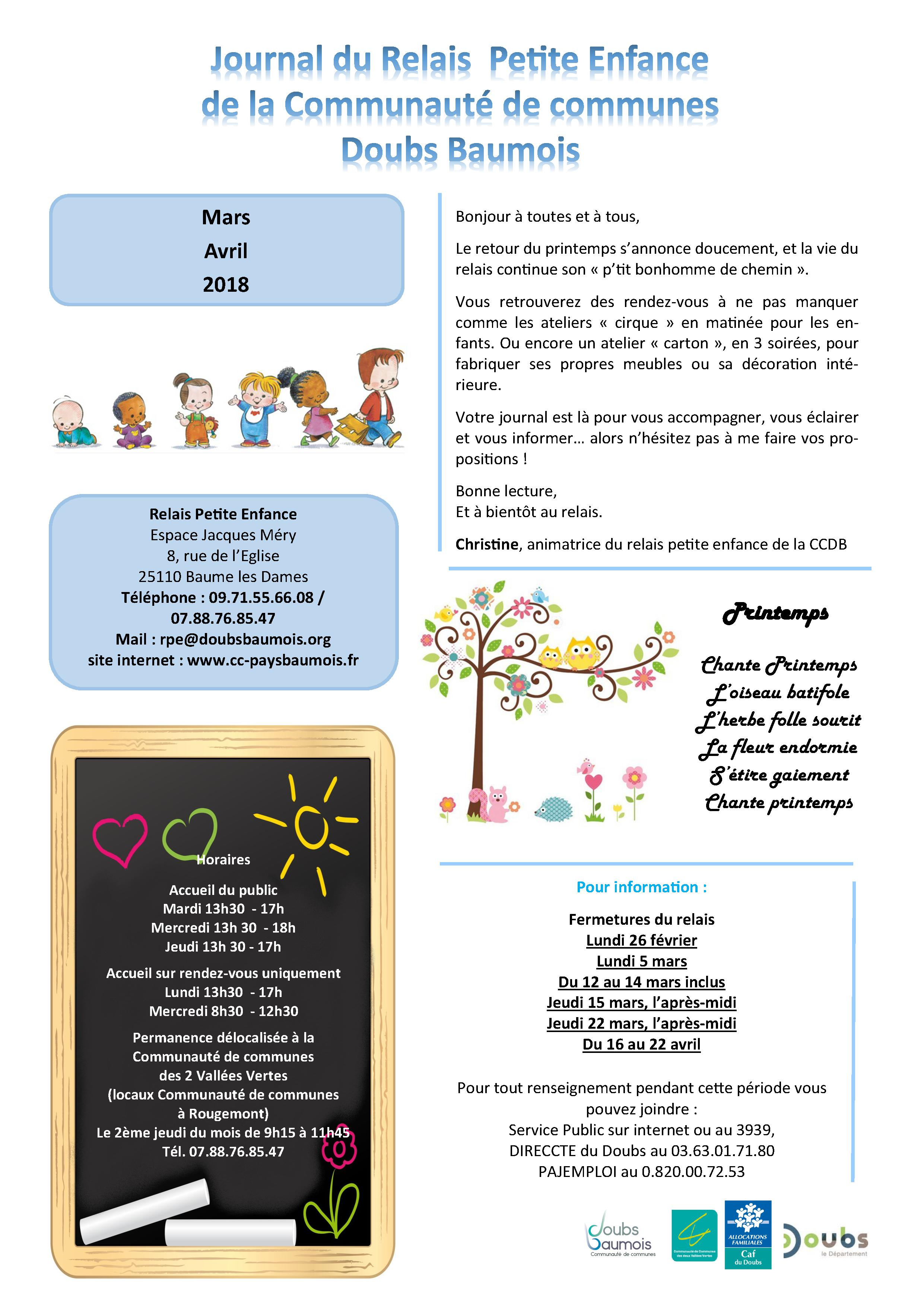 Journal RPE mars avril2018